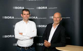 Teamchef Ralph Denk (l.) und Willi Bruckbauer von Hauptsponsor Bora ©Ralph Denk Pro Cycling