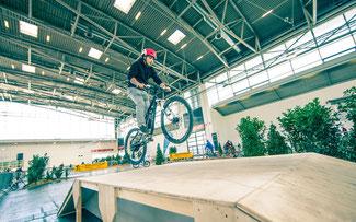 Fahrradparcours auf der F.re.e © Messe München International