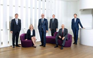Das Foto zeigt (von links): Falk Senger, Monika Dech, Klaus Dittrich, Gerhard Gerritzen, Dr. Reinhard Pfeiffer, Stefan Rummel ©Messe München