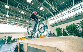 Fahrradparcours auf der f.re.e ©Messe München International