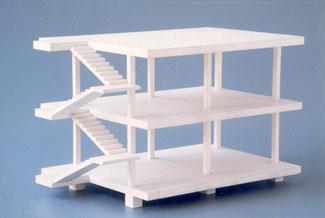 Système Dom-Ino Le Corbusier contreventement noeuds encastrés encastrement