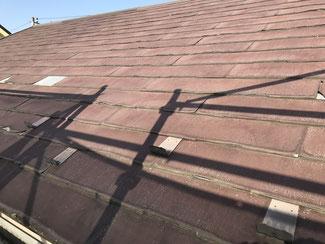 劣化した屋根材ニチハパミール