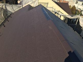 ガルバニウム鋼板屋根完成