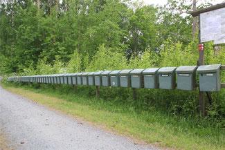 Schweden, das Land der vielen Briefkästen