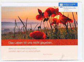 Karte zur Diakonatsweihe - Das Leben ...