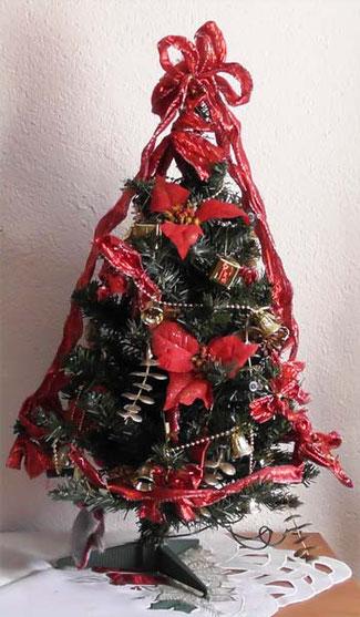 Der kommerziell geschmückte Weihnachtsbaum