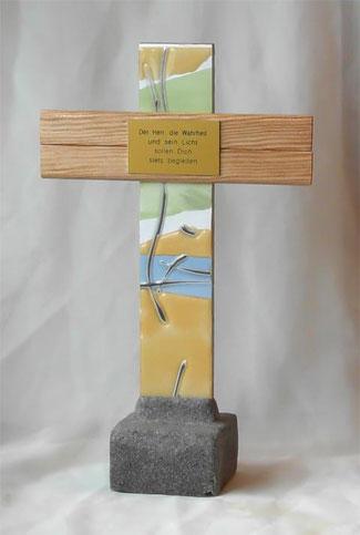 Imposantes Stehkreuz zur Kommunion mit Vers