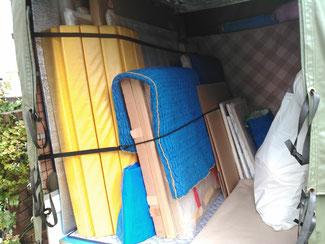 武蔵野美術大学至近です。大型絵画(150号まで)荷台に入ります。個展、公募展等は小平市の赤帽やましげ運送へ!