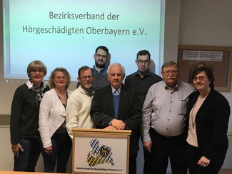 v.l.n.r: Marianne Mitterhuber, Marina Meinl, Michael Hangl, Michael König, Rudolf Gast, Jürgen Lindner, Karl Baur, Christine Jandy