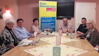 Zur neuen FDP-Fraktion gehören u.a. (v.r.n.l.): Margret Schwandt, Alexander Bauer,  Dirk Herminghaus (Fraktionsvorsitzender), Doris Herminghaus, Rainer Droste und Ingrid Schumacher.
