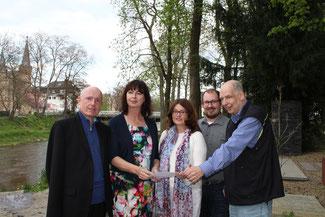 Tourismus und Weinbau sind aus Sicht der FDP wichtige Standortfaktoren im Kreis Ahrweiler (von links): Ulrich van Bebber, Alexandra Lieb, Brigitte Schmickler, David Jacobs und Sven Rogatschew