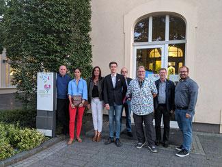Die Mitglieder des FDP-Stadtverbands Bad Neuenahr-Ahrweiler informierten sich beim technischen Geschäftsführer der LaGa 2022 gGmbH, Martin Schulz-Brehme, über die geplanten Projekte der Landesgartenschau.