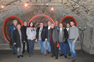 Staatssekretär Andy Becht aus Mainz besuchte mit den Vertretern der FDP im Kreis Ahrweiler die Winzergenossenschaft Mayschoss-Altenahr.