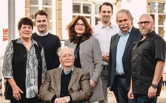 Die Sinziger Liberalen (v. l. n. r.) Hilda Missfeld, Stefan Wisskirchen, Roderich Graf von Spee, Brigitte Schmickler, Martin Thormann (Vorsitzender), Volker Thormann, Hagen Hoppe. Foto: Hagen Hoppe Photographer