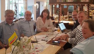 FDP Stadtverband Bad Neuenahr-Ahrweiler, von links-Ralf Kössendrup, Matthias Bertram, Alexandra Lieb, David Jacobs, Rolf Deißler, Annemarie Müller-Feldmann