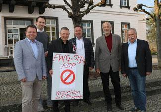 Die FDP, FWG und SPD einigten sich darauf, dass es von ihrer Seite für die Wahlen zum Stadtrat, den Ortsbeiräten und für die Ortsvorsteher keine Wahlwerbung an den Straßenlaternen geben wird. Foto: privat