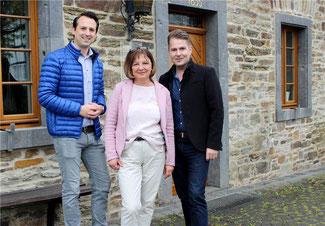 Die Westumer Liberalen (v.l.) Martin Thormann (1. Vorsitzender), Mariola-Helene Latus-Jarzombek und Stefan Wisskirchen. Foto: Melina Hirte