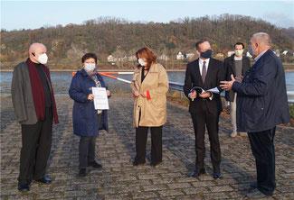(v. li. n. re.) Ulrich van Bebber (Kreisvorsitzender der FDP), Doris Herminghaus, Sandra Weeser (MdB), Dr. Volker Wissing (Minister in RLP und neuer Generalsekretär der FDP), Martin Thormann (Landtagskandidat der FDP) und Dirk Herminghaus