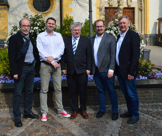 v.l. Matthias Bertram, Andy Neumann, Ralf Kössendrup, David Jacobs und Rolf Deißler