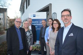 Viele Übereinstimmungen stellten die Vertreter der IHK und der FDP fest (von links), Ulrich van Bebber, Maggy Schwandt, Dirk Herminghaus, Dr. Bernd Greulich, Christina Steinhausen, Brigitte Schmickler und Alexander Kohnen