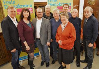 Die Kandidaten der FDP zur Wahl das Stadtrats Bad Neuenahr-Ahrweiler.