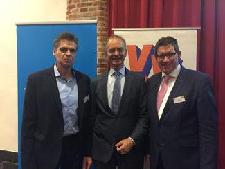 v.l. Andreas Terhaag MdL, Henk Kamp, Dietmar Brockes MdL