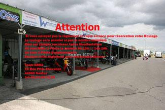 Le Team KRH2 organise un roulage à Ancenis le 020718.