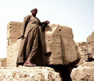 Mustafa zeigte uns den Tempel-Bezirk
