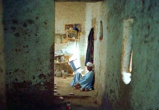das Wohnzimmer eines Fellachen-Hauses