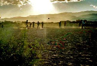 ein grenzenloses Fussball-Feld