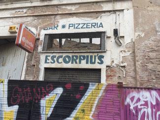 Aspecto actual del bar Escorpiu's
