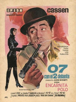 Cartel dibujado por Jano (F. Fernández-Zarza Pérez)