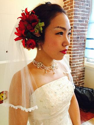 池袋の美容室 Aere 結婚式のヘアセット
