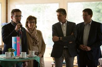 Tourismus-Talk (von links nach rechts): Marco Mendorf, Martina Beumgärtner, Andreas Terhaag und Dietmar Brockes
