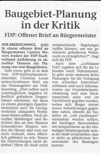Artikel in der Stimberg Zeitung vom 15.4.2017