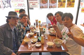 ラーメン店「三太」にて 浜松の味を堪能しました。
