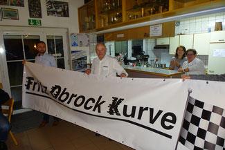 Die Steilkurve auf der Breitwangbahn wurde zur 'Fritz-Obrock-Kurve' ernannt.  | Bild: Michael Scheidle