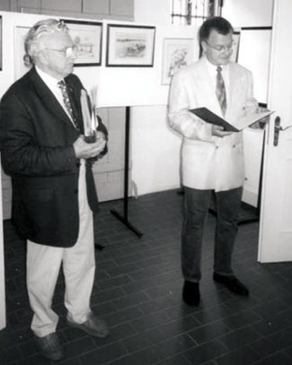 Doberlug-Kirchhain Eröffnung durch Museumsleiter Hanslok.