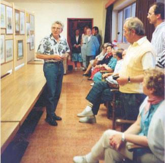 Eröffnung der Kunstausstellung in der Freizeitzeit-Arena in Sölden
