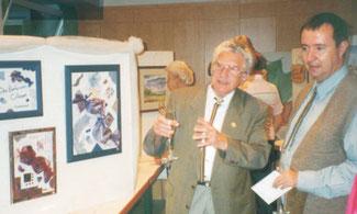 Franz Klammer besuchte Kunstausstellung
