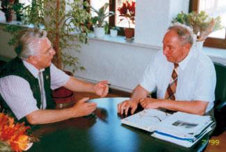 Egon Dürfeldt und Bürgermeister Berl