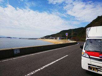 岡山市東区宝伝海水浴場付近