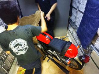 奈良市からバイク輸送