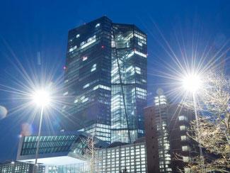 Der Neubau der Europäischen Zentralbank in Frankfurt am Main. Foto: Boris Roessler