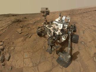 Ein Handout der Nasa zeigt den Marsrover Curiosity. Foto: NASA