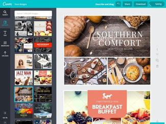 Wer Broschüren, Visitenkarten oder etwa Webseiten professionell gestalten möchte, kann dafür den neuen Onlinedienst Canva nutzen. Foto: www.canva.com