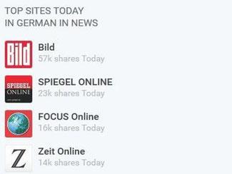 Bei dem Suchdienst storyclash.com bestimmen die Leser, welche Relevanz eine Nachricht hat. Artikel mit den meisten Shares landen ganz oben. Foto: www.storyclash.com