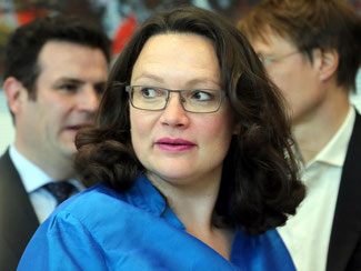Nahles' Ministerium bestätigte, verriet aber keine Details. Foto: Wolfgang Kumm/Archiv