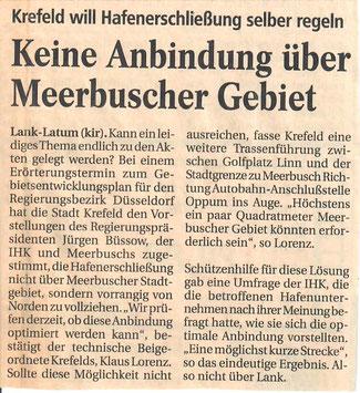 Quelle: Meerbuscher Nachrichten vom 07.01.1998