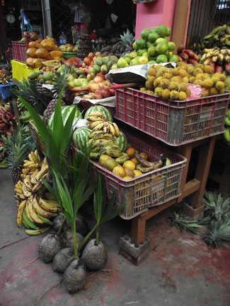 fruit market, Villa Tunari, Amazon, Bolivia